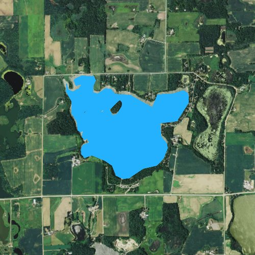 Fly fishing map for Beebe Lake, Minnesota