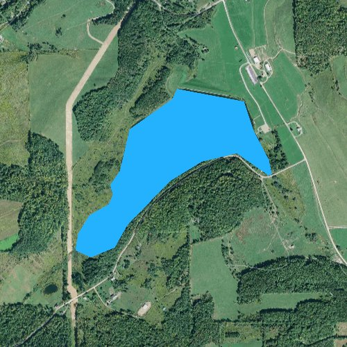 Fly fishing map for Beechwood Lake, Pennsylvania