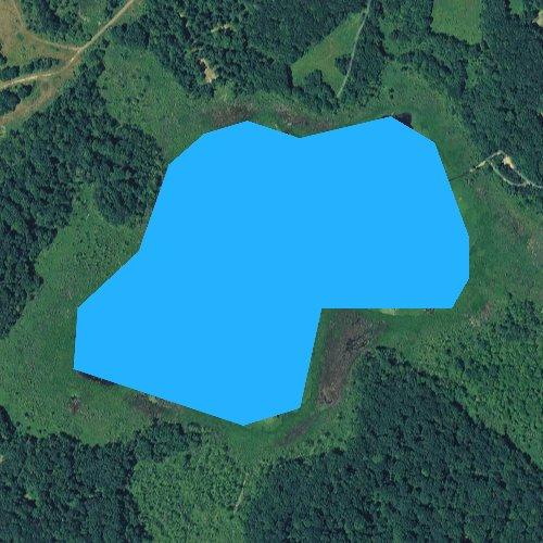 Fly fishing map for Belas Lake, Michigan
