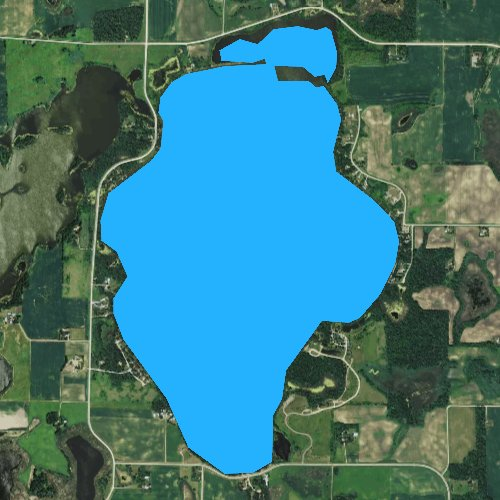 Fly fishing map for Belle Lake, Minnesota