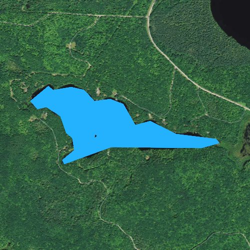 Fly fishing map for Bellevue Lake, Wisconsin