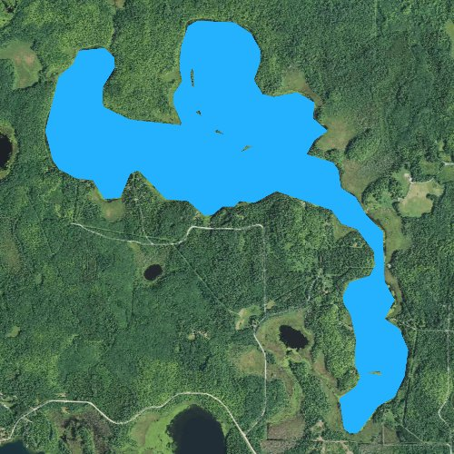 Fly fishing map for Bello Lake, Minnesota
