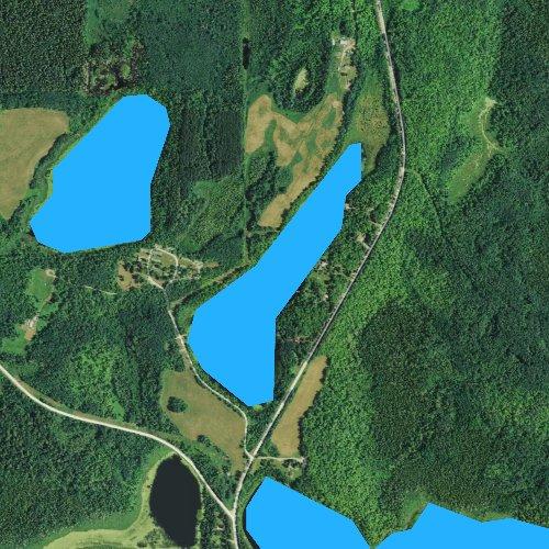 Fly fishing map for Benjamin Lake, Minnesota