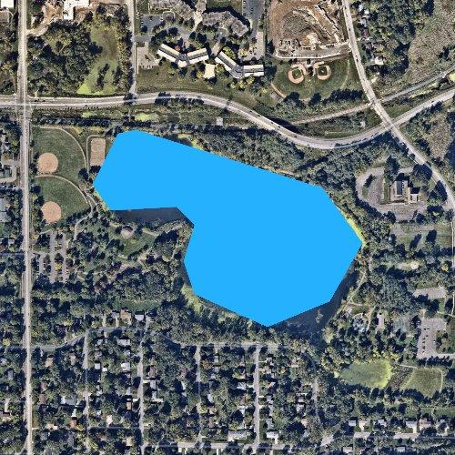 Fly fishing map for Bennett Lake, Minnesota