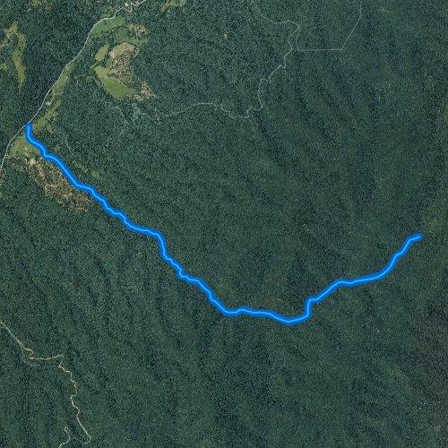 Fly fishing map for Benson Run, Virginia