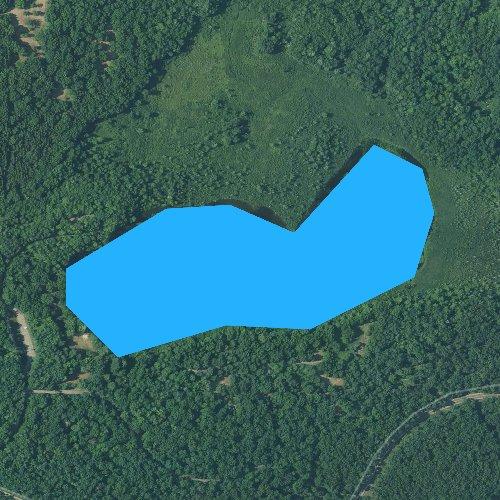 Fly fishing map for Benton Lake, Michigan