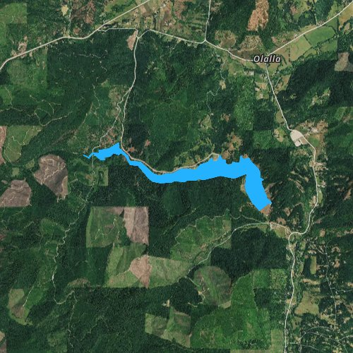 Fly fishing map for Berry Creek Reservoir, Oregon