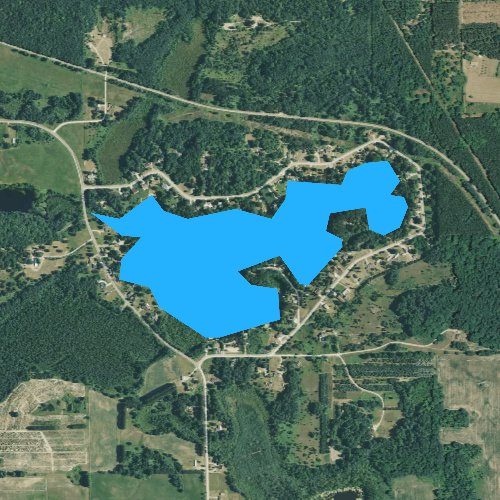 Fly fishing map for Berry Lake, Michigan
