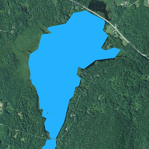 Fly fishing map for Berry Pond, Maine