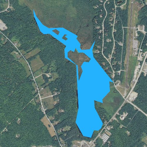 Fly fishing map for Berry Pond, New Hampshire