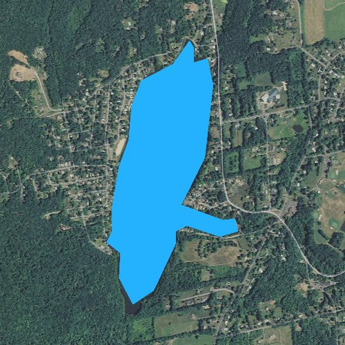 Fly fishing map for Beseck Lake, Connecticut