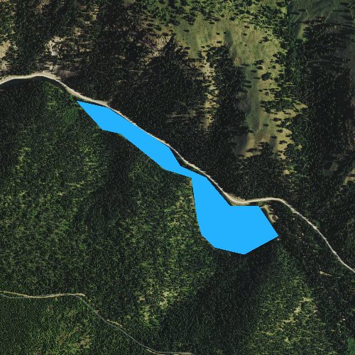 Fly fishing map for Beth Lake, Washington