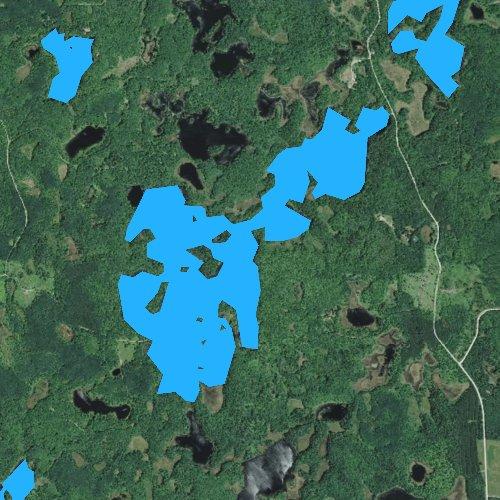 Fly fishing map for Big Bass Lake, Minnesota