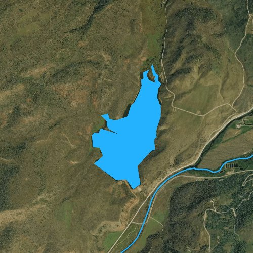 Fly fishing map for Big Beaver Reservoir, Colorado
