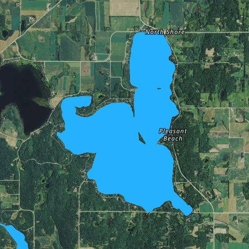 Fly fishing map for Big Birch Lake, Minnesota
