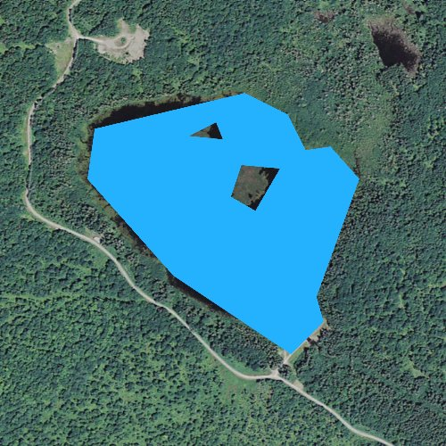 Fly fishing map for Big Brook Bog, New Hampshire