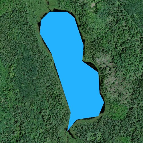 Fly fishing map for Big Brook Lake, Wisconsin