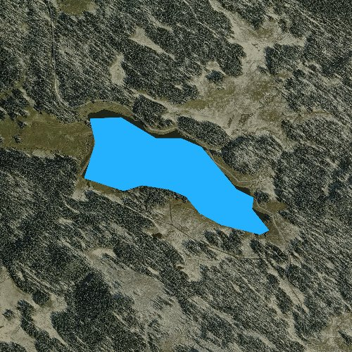 Fly fishing map for Big Creek Reservoir Number 1, Colorado