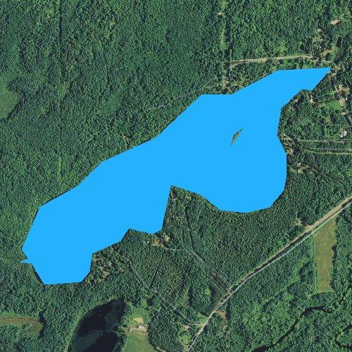 Fly fishing map for Big Dardis Lake, Wisconsin