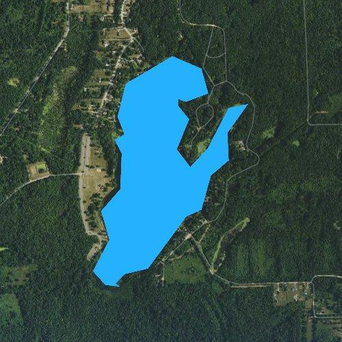 Fly fishing map for Big Fish Lake, Michigan