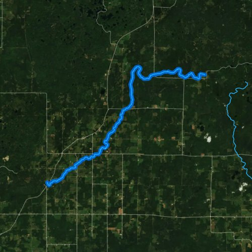 Fly fishing map for Big Hay Meadow Creek, Wisconsin
