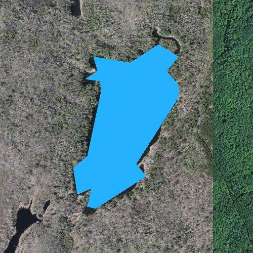 Fly fishing map for Big Jack Lake, Minnesota
