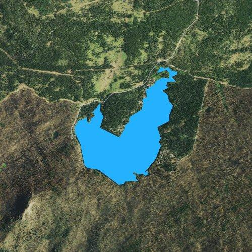Fly fishing map for Big Lake, Oregon
