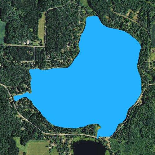 Fly fishing map for Big Lake: Polk, Wisconsin