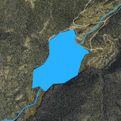 Fly fishing map for Big Meadows Reservoir, Colorado