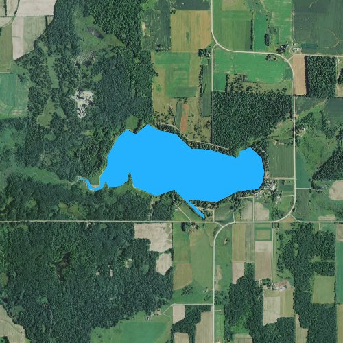 Fly fishing map for Big Moon Lake, Wisconsin