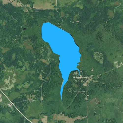 Fly fishing map for Big Mud Lake, Michigan