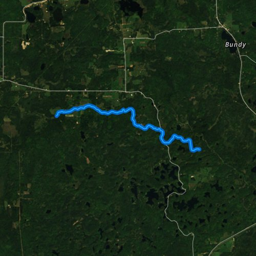 Fly fishing map for Big Pine Creek, Wisconsin