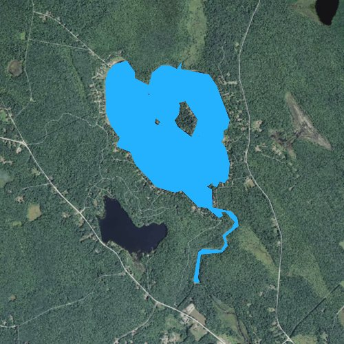 Fly fishing map for Big Pond, Massachusetts