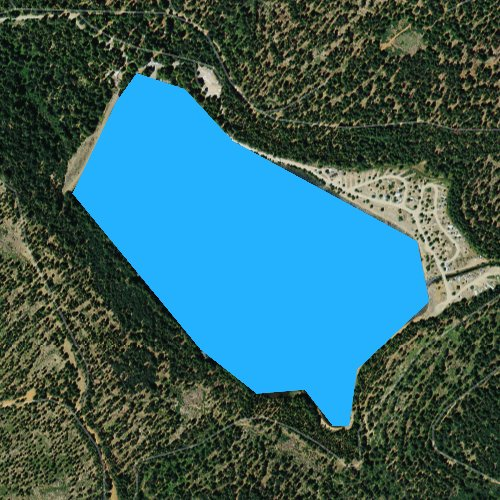 Fly fishing map for Big Reservoir, California