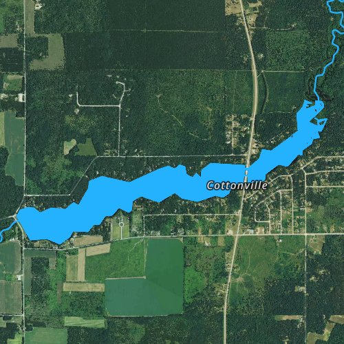Fly fishing map for Big Roche Lake 71, Wisconsin