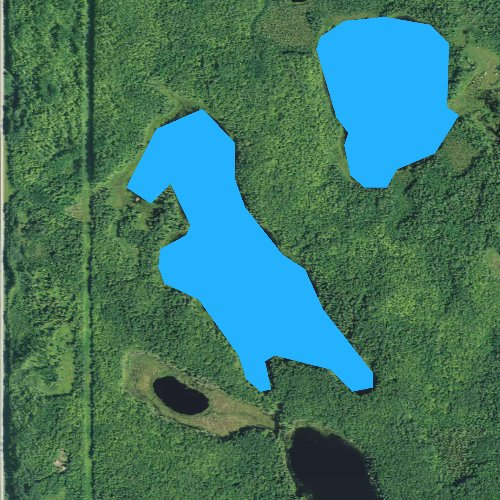 Fly fishing map for Big Rose Lake, Minnesota