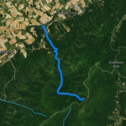 Fly fishing map for Big Run, Virginia
