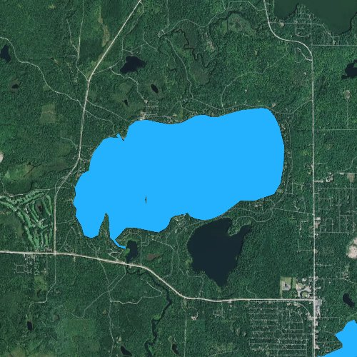Fly fishing map for Big Saint Germain Lake, Wisconsin