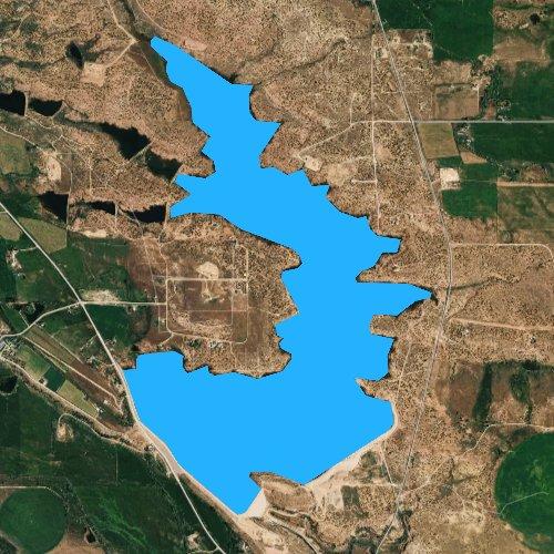 Fly fishing map for Big Sand Wash Reservoir, Utah