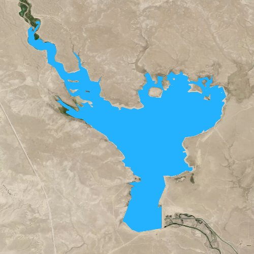 Fly fishing map for Big Sandy Reservoir, Wyoming