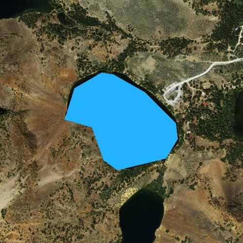Fly fishing map for Big Valley Lake, California