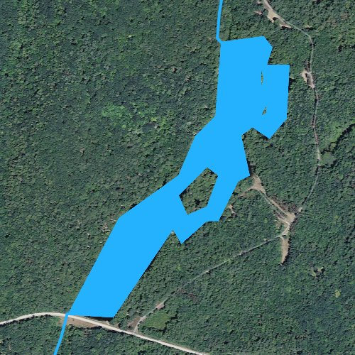 Fly fishing map for Bigelow Pond, Connecticut