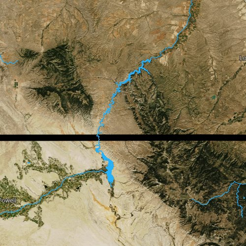 Fly fishing map for Bighorn Lake, Wyoming