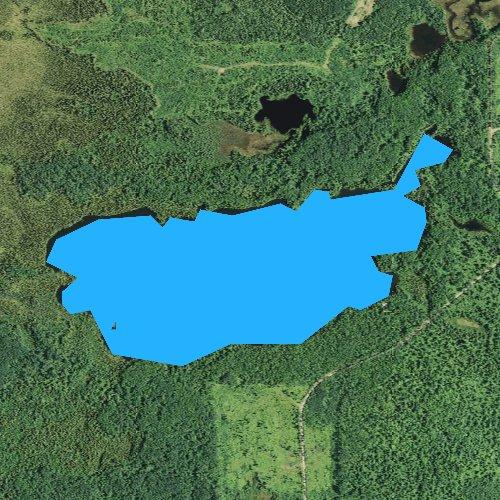 Fly fishing map for Binagami Lake, Minnesota
