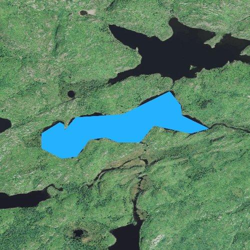 Fly fishing map for Bingshick Lake, Minnesota