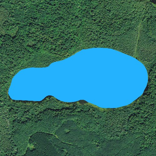 Fly fishing map for Birch Lake: Itasca, Minnesota