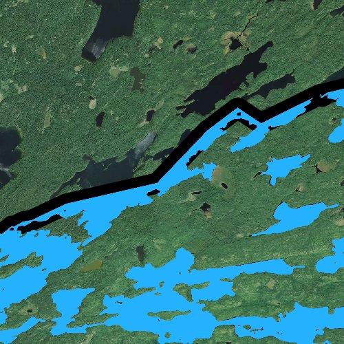Fly fishing map for Birch Lake: Lake, Minnesota
