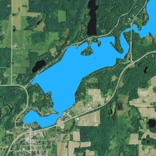 Fly fishing map for Birch Lake, Wisconsin