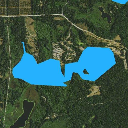 Fly fishing map for Bishop Lake, Michigan