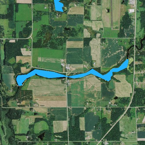 Fly fishing map for Black Brook Flowage, Wisconsin